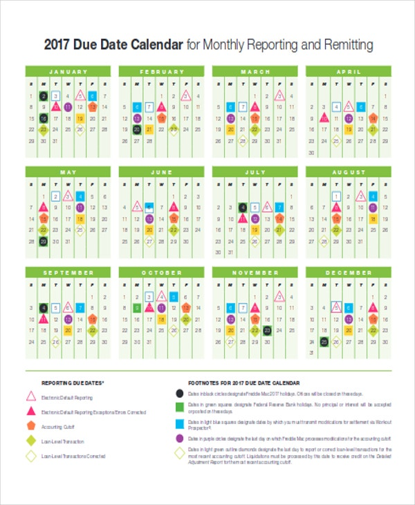 Business Calendar Templates  Free Sample Example Format