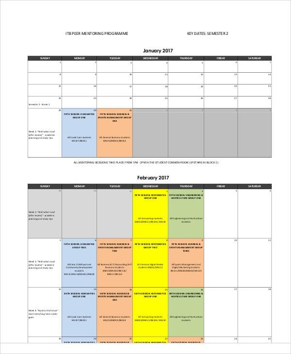 monthly calendar5