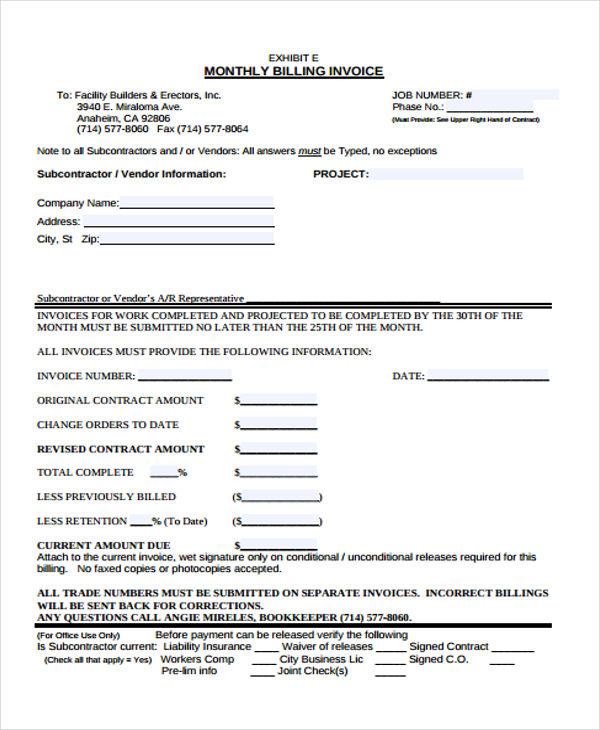 39 blank invoice templates free premium templates