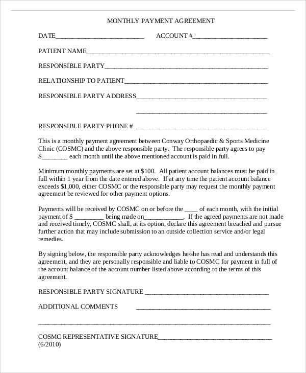 48 Sample Agreement Templates Word Pdf Free