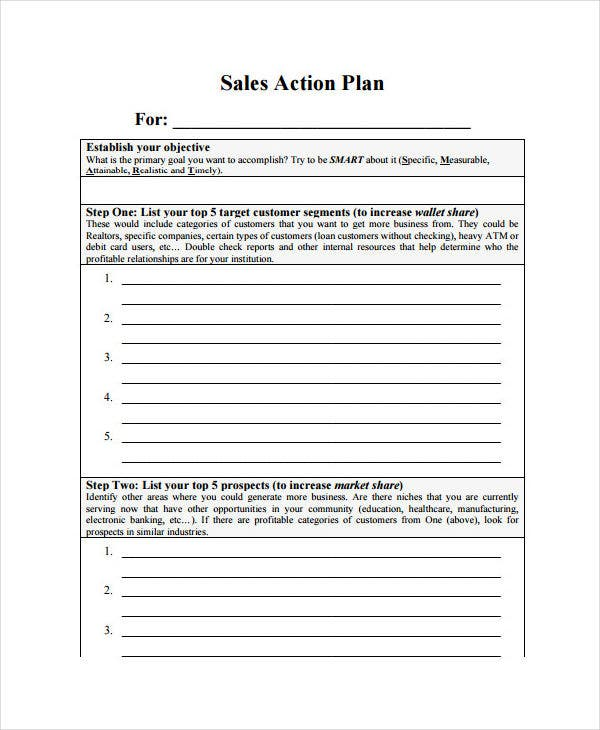 Monthly Sales Plan Templates  Free Sample Example Format
