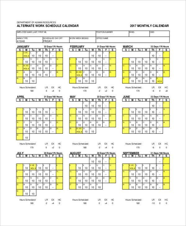 monthly work1