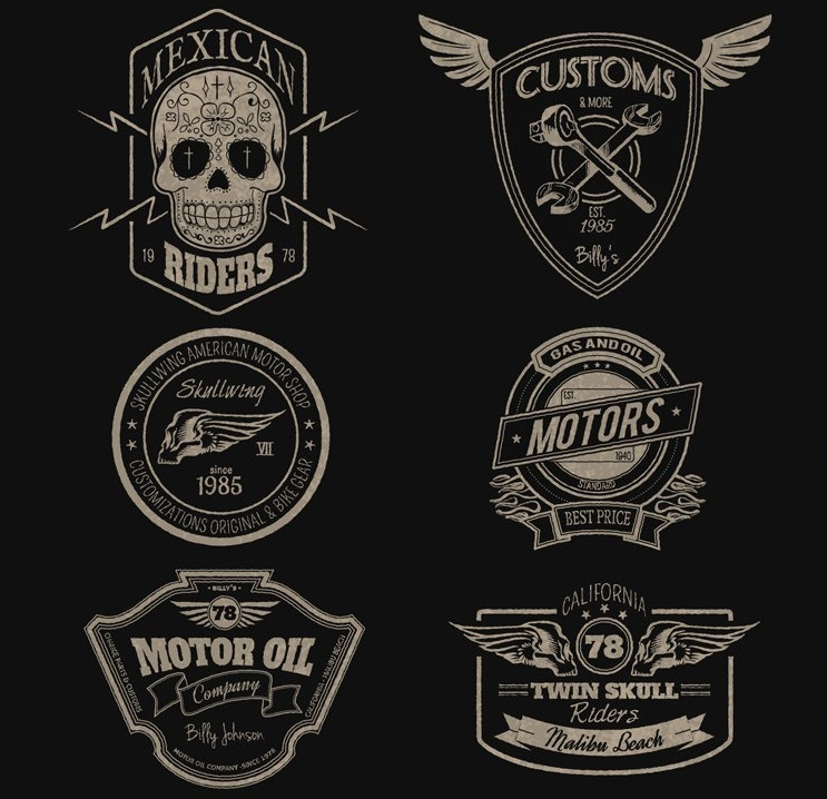 motors-badges-free-vector