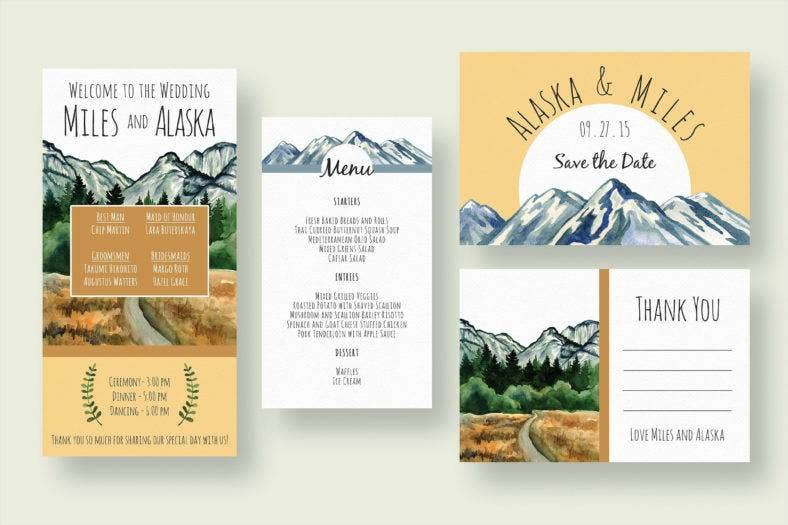 mountain wedding stationery 788x525