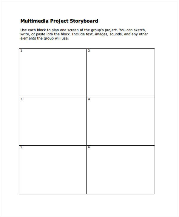 multimedia project storyboard