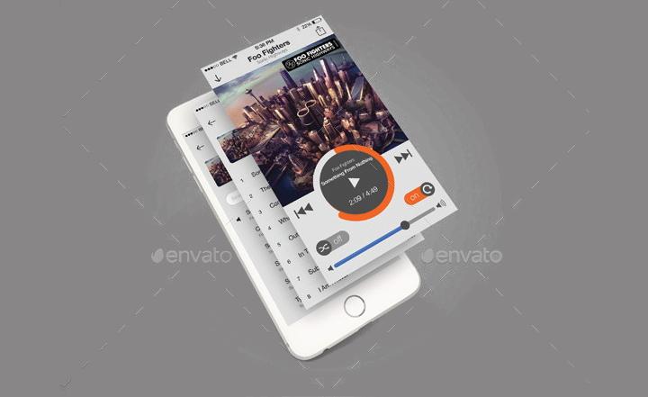 music app psd