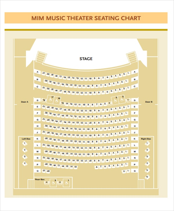 music seating chart