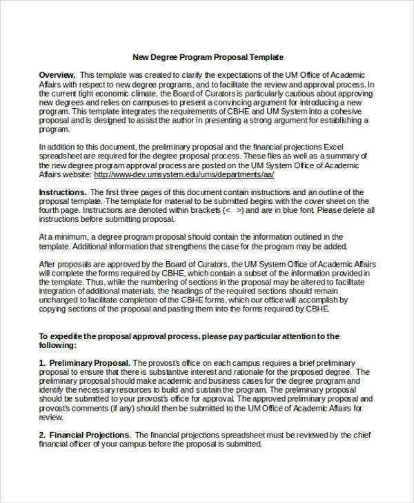Academic Proposal Templates   Free Word Pdf Format Download