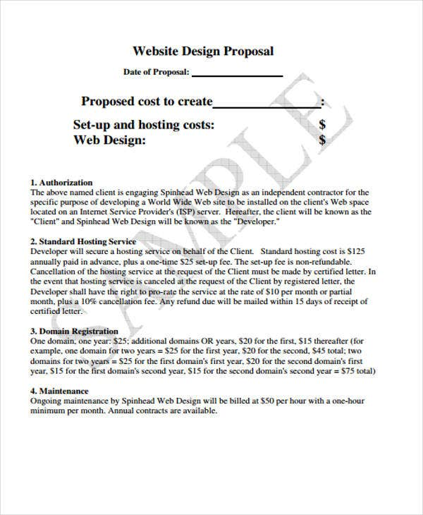 42 Simple Proposal Templates – Web Design Proposal Template