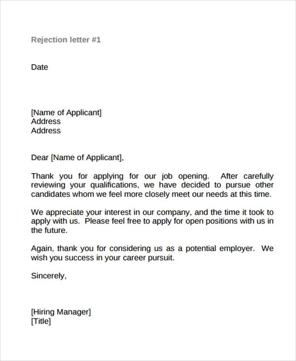 no job offer thank you letter
