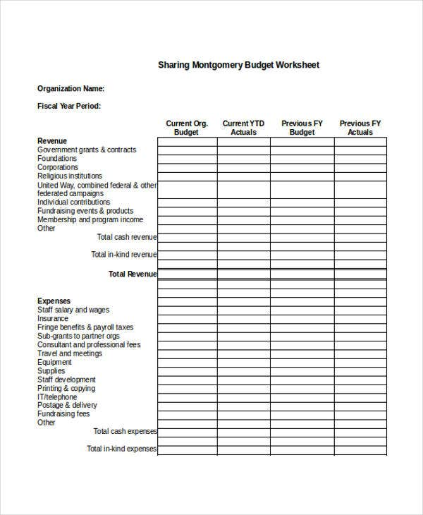 Nonprofit Sheet Templates - 6+ Free Word, PDF Format