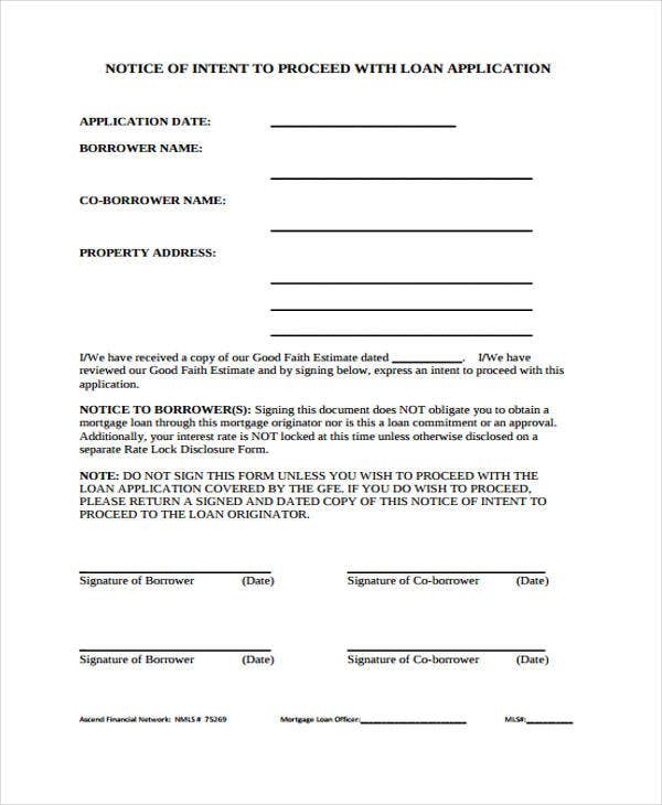 Sample notice form privacy notice forms sample notice forms notice to proceed templates free sample example format download spiritdancerdesigns Choice Image
