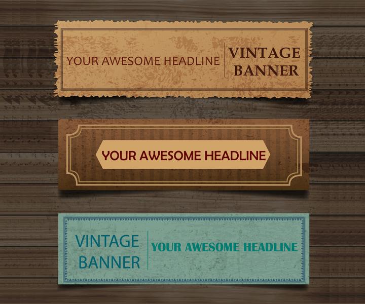 old-paper-banner