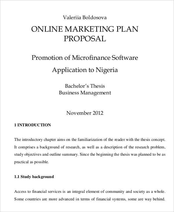plan proposal templates 10 free word pdf format download free