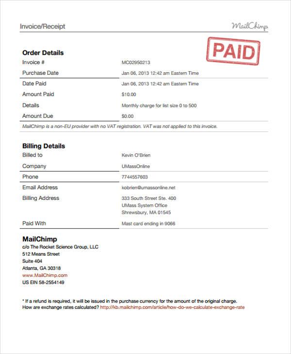 order invoice