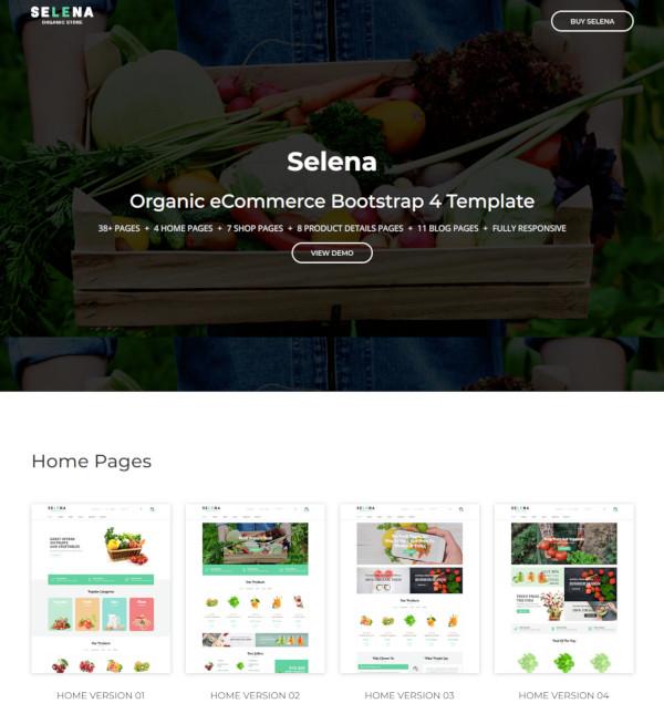 organic food shop html template