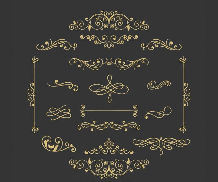 ornaments-vintage-vector