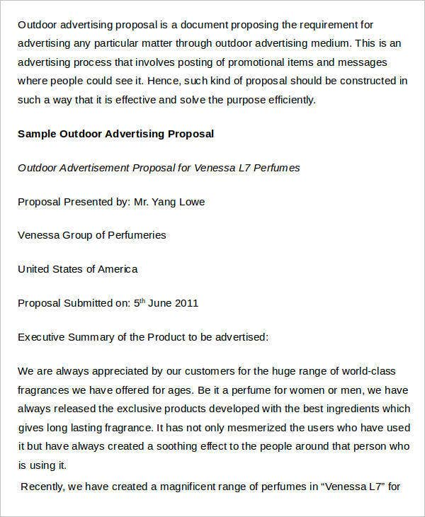 Outdoor Advertising Business Proposal