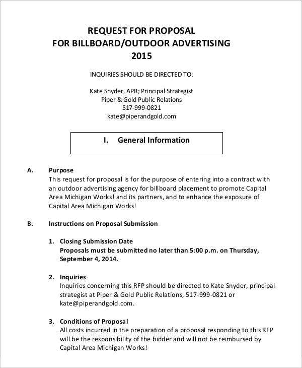Advertising Proposal Templates - 15+ Free Sample, Example Format ...