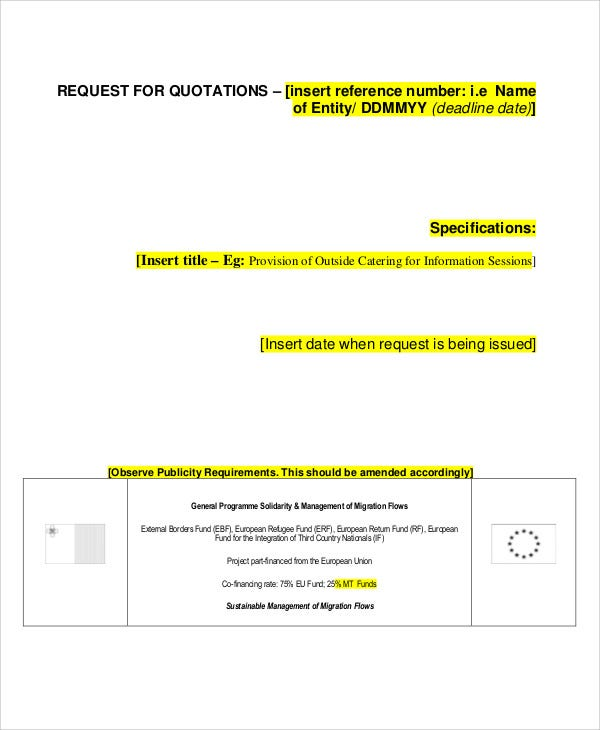 Catering Quotation Templates  Word Pdf  Free  Premium Templates