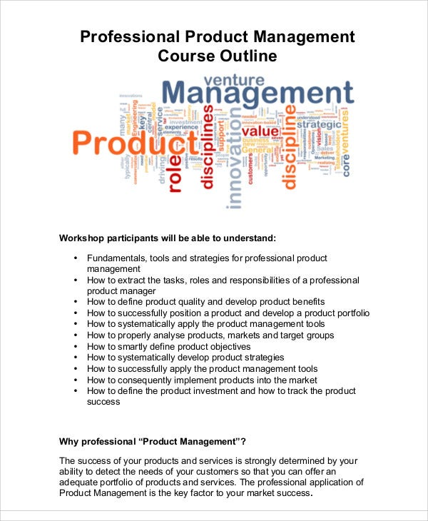 outline for product management