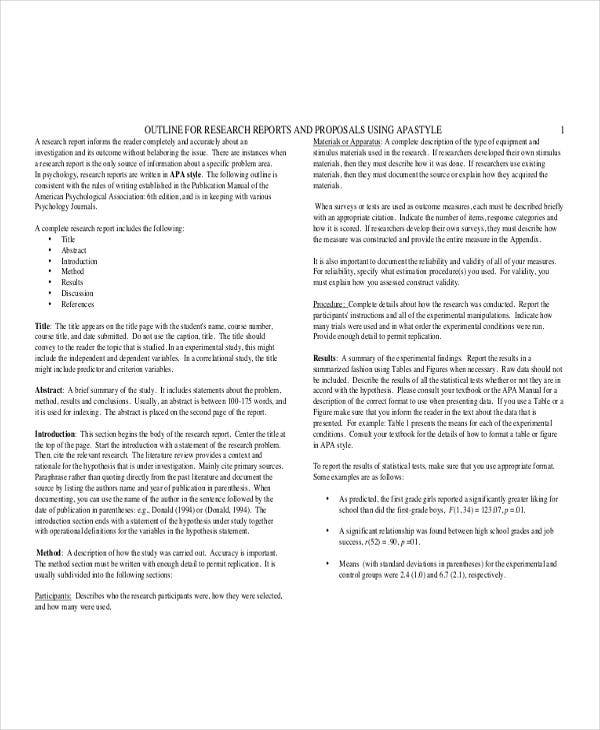 research report outline template On a separate sheet of paper, please complete your outline following this template remember outline for research paper i introduction a.