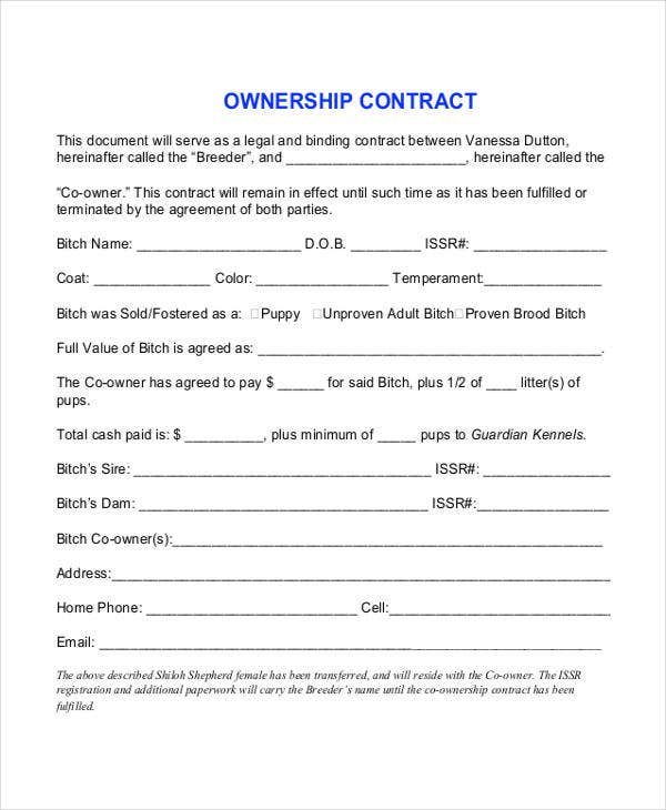 ownership contract