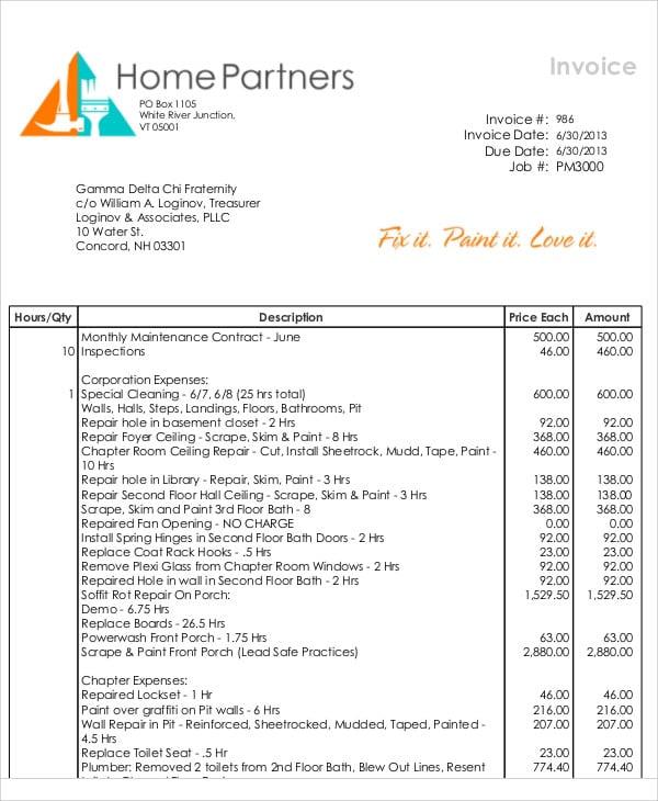 35+ Free Invoice Templates | Free & Premium Templates