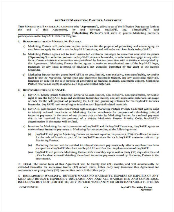 partnership agreement1