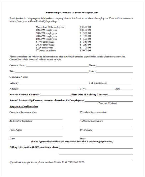 partnership contract