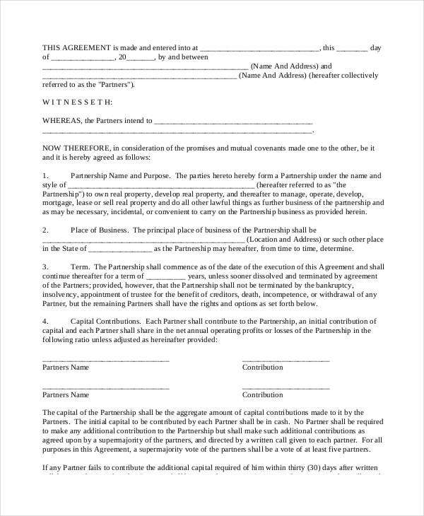 partnership contract1
