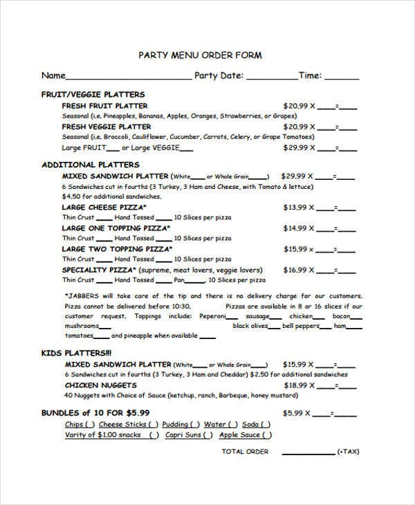 party order