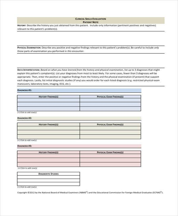 Patient Note Templates - 6+ Free Word, Pdf Format Download | Free