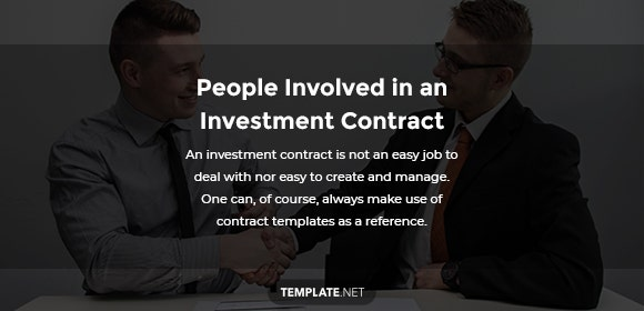 people involved in an investment contract