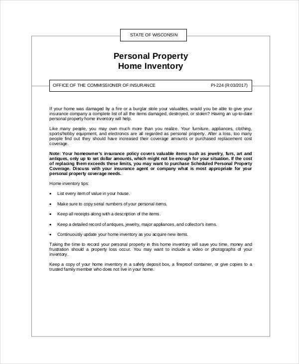 personal property home