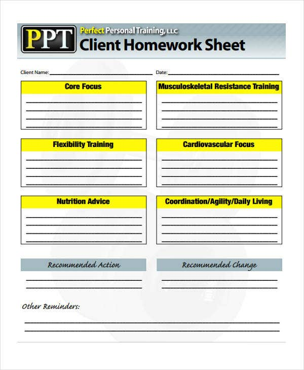 8 training sheet templates free sample example format downlaod