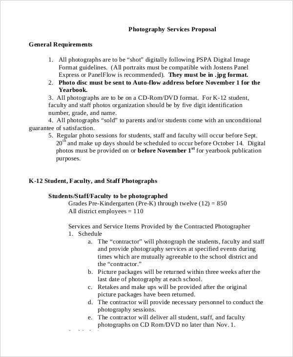 Photography Business Proposal Templates