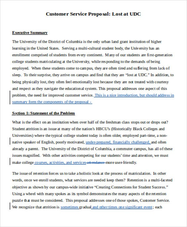Customer Service Proposal Templates 10 Free Word Pdf Format