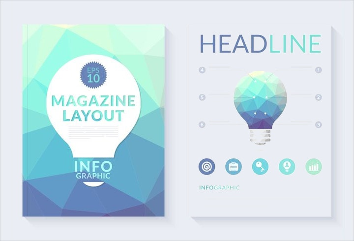 polygonal magazine layout