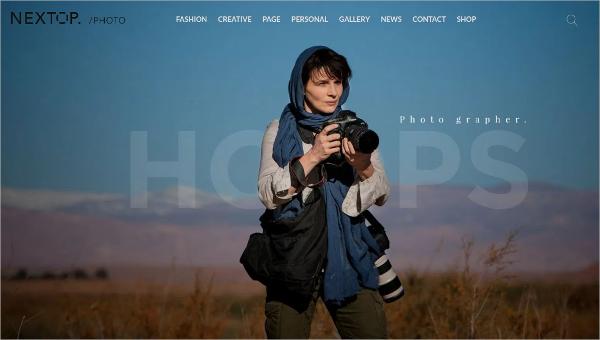 portfoliowebsitethemesforphotography