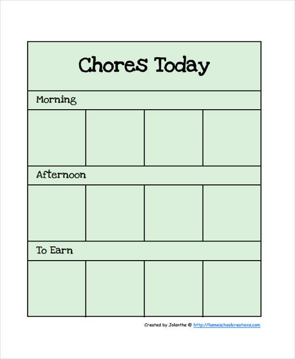 preschool chart