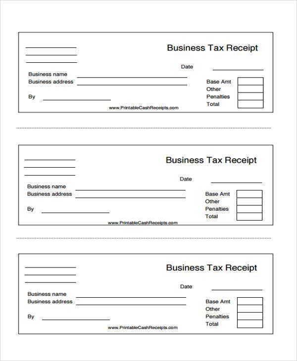 photo relating to Blank Receipt Template identify 45+ Printable Receipt Templates No cost Top quality Templates