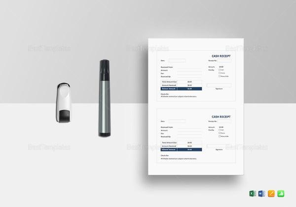 printable cash receipt template1