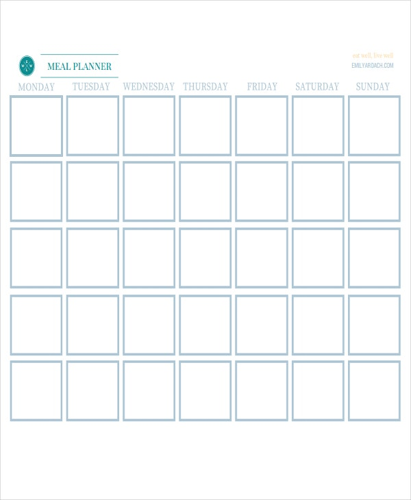 picture relating to Printable Meal Calendar identify 9+ Supper Calendar Templates - Absolutely free Pattern, Instance Structure