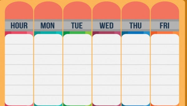 graphic about Weekly Schedule Template Printable named 27+ Printable Routine Templates Absolutely free High quality Templates