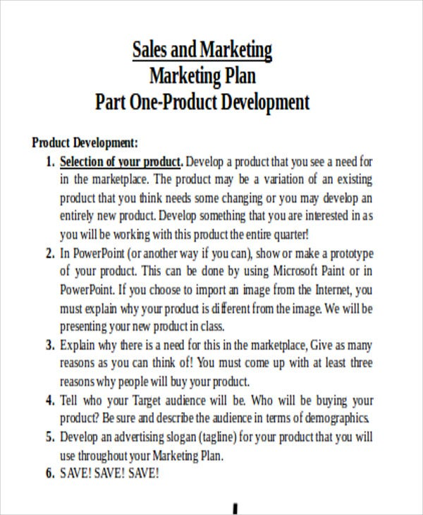 product marketing plan
