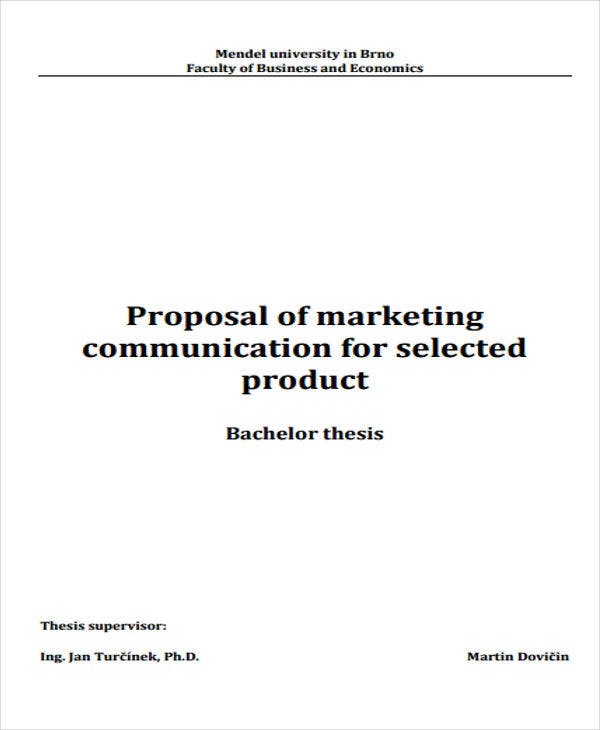 Product Marketing Proposal