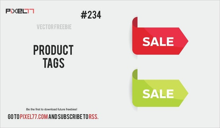 product sale tag