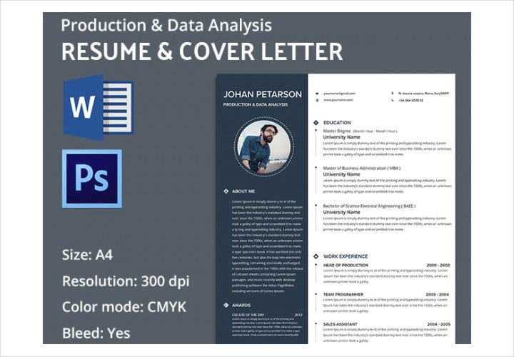 Production & Data Analysis Resume