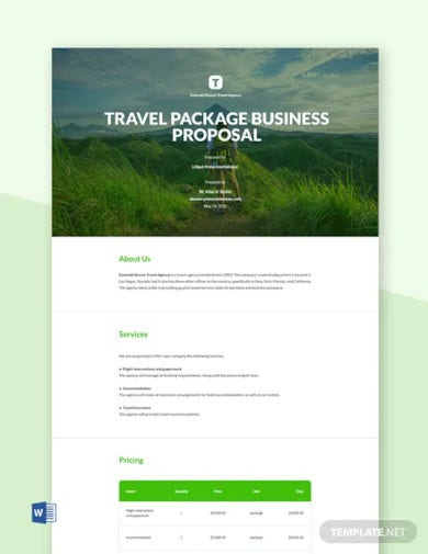 professional business proposal template1